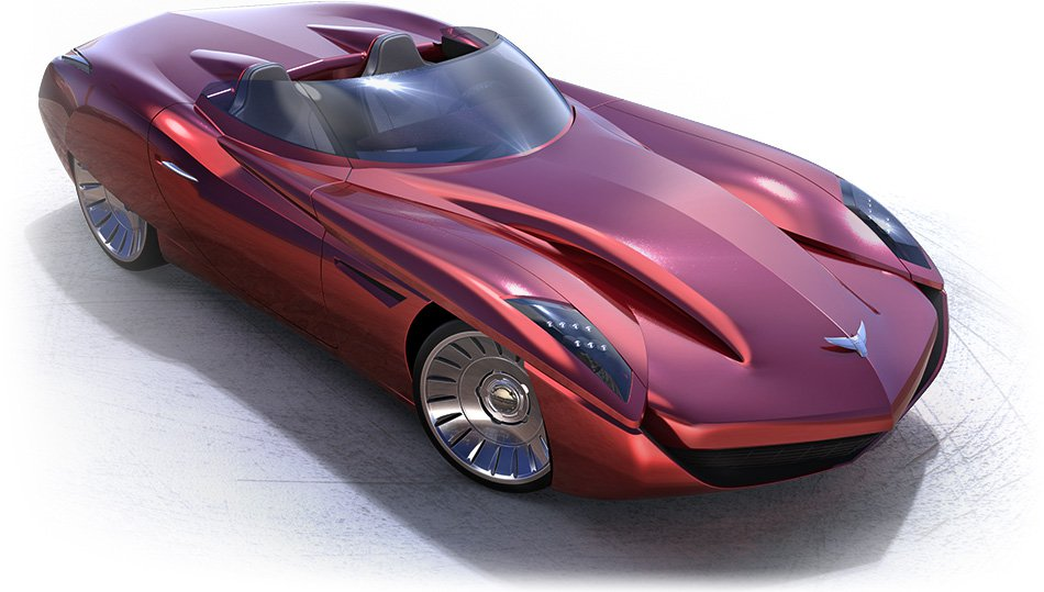 Automotive Design Red Roadster Thomas Clever